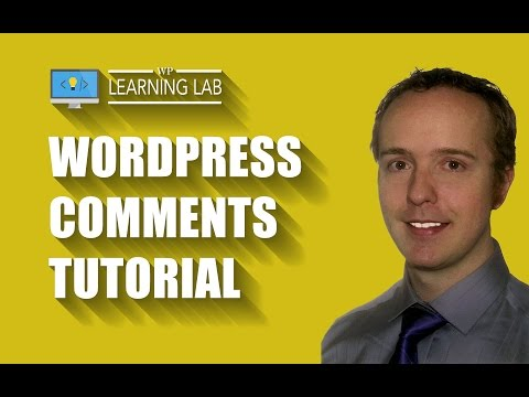WordPress Comments Tutorial