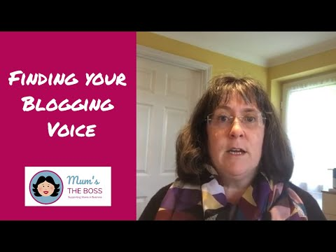 Finding your blogging voice