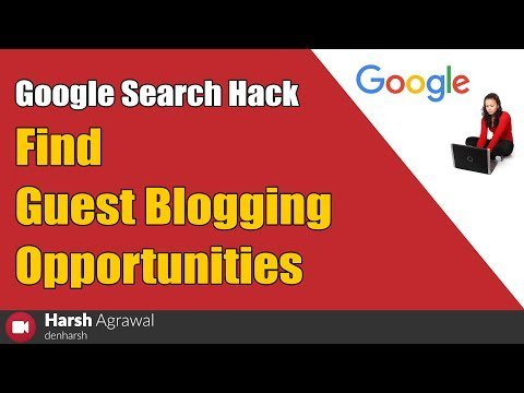 Google search hack to find guest blogging opportunities