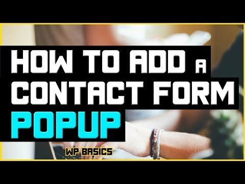How to Add a Free Contact Form Popup in WordPress