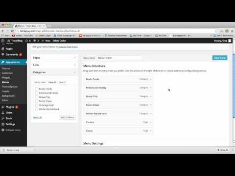 Custom Menus & Drop Down Menus – WordPress