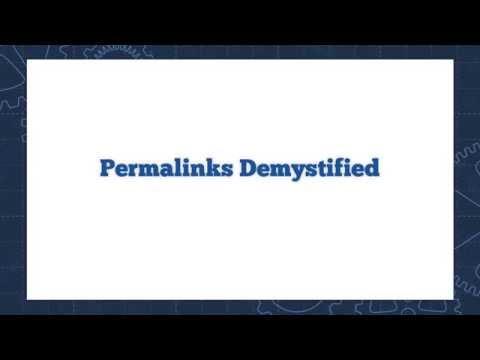 WordPress Permalinks Demystified