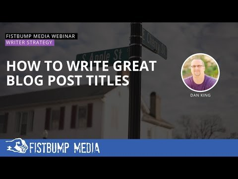 How To Write Great Blog Post Titles