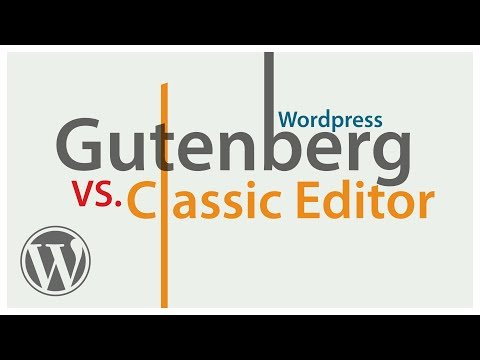 Creating web pages with GUTENBERG VS.The CLASSIC Editor